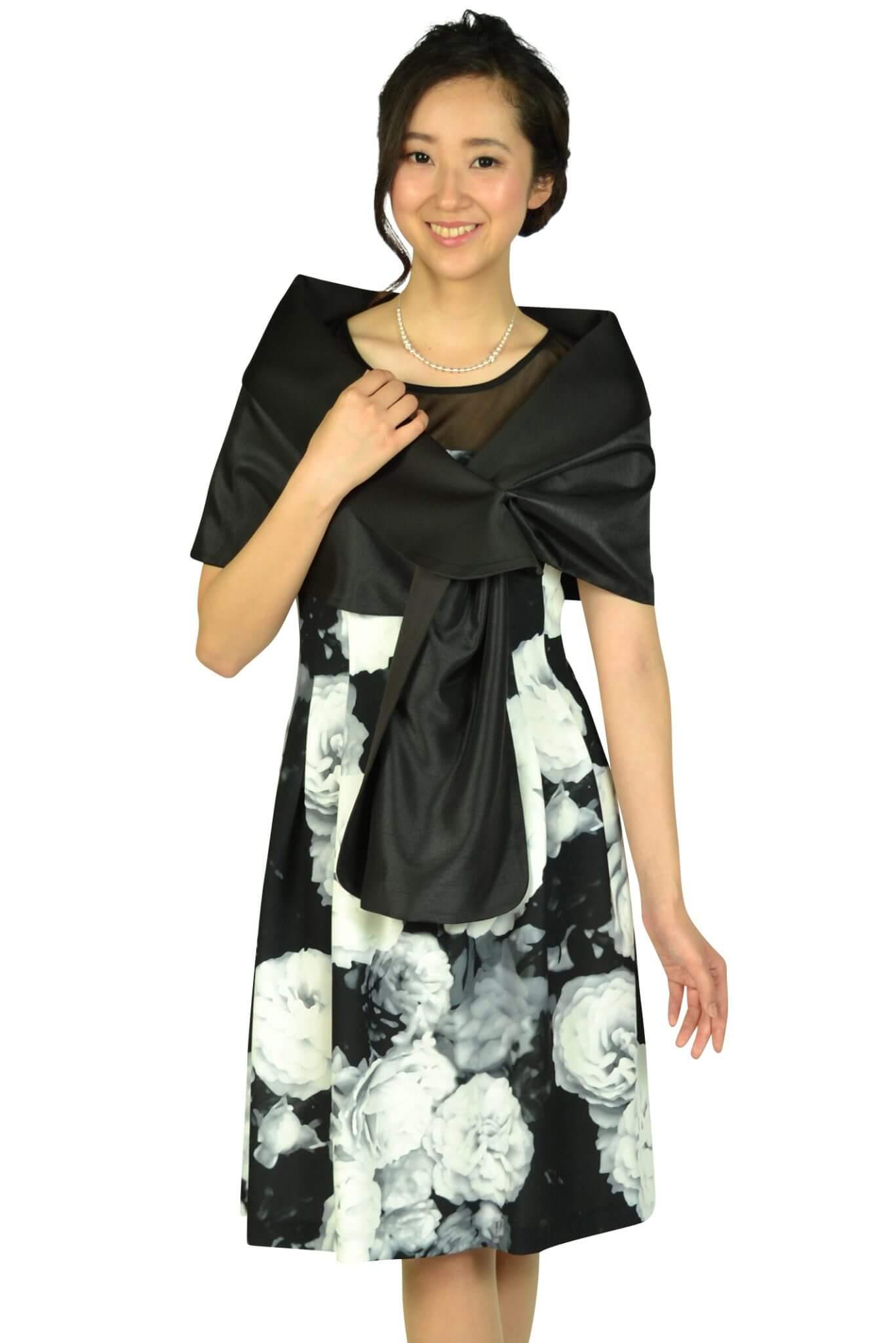 カルバンクライン(Calvin Klein)エレガントフラワーブラックドレスセット