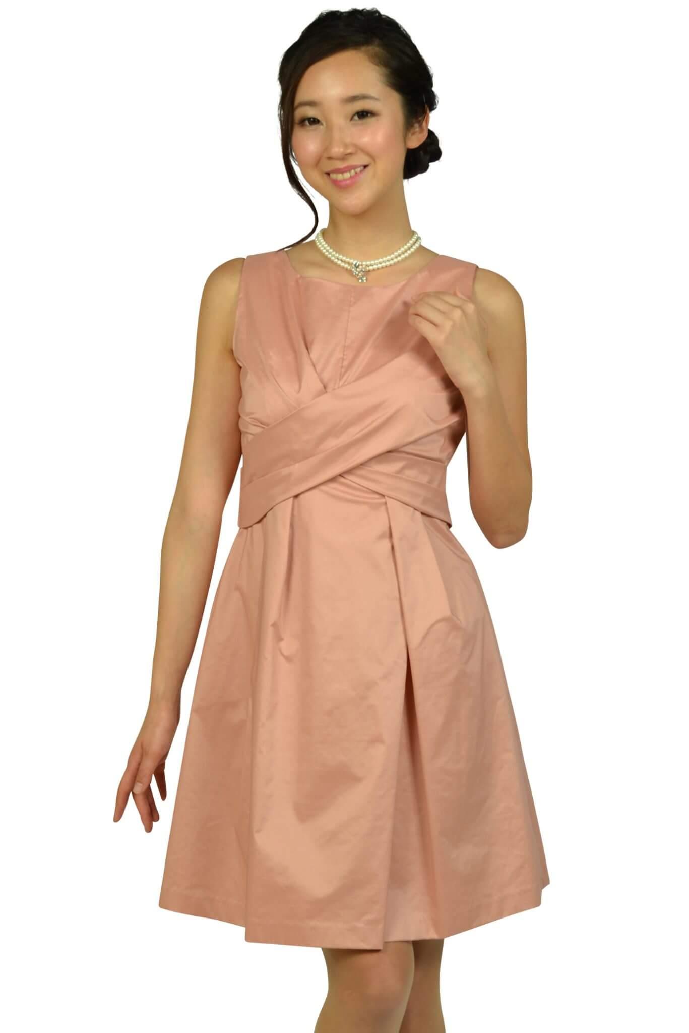 リランドチュール (Rirandture)フェミニンタックピンクベージュドレス