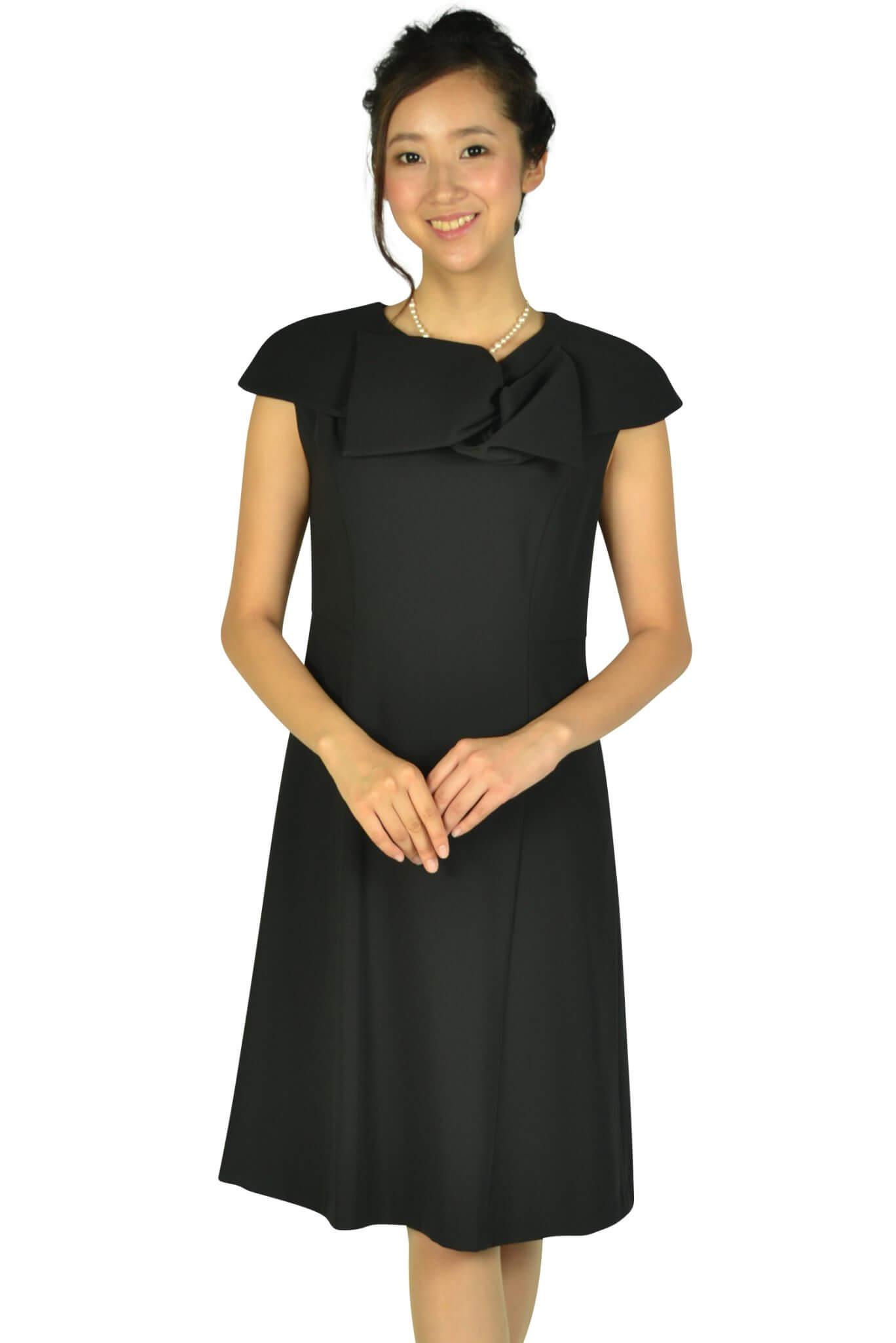 ケティ (ketty)上品付け襟ブラックドレス