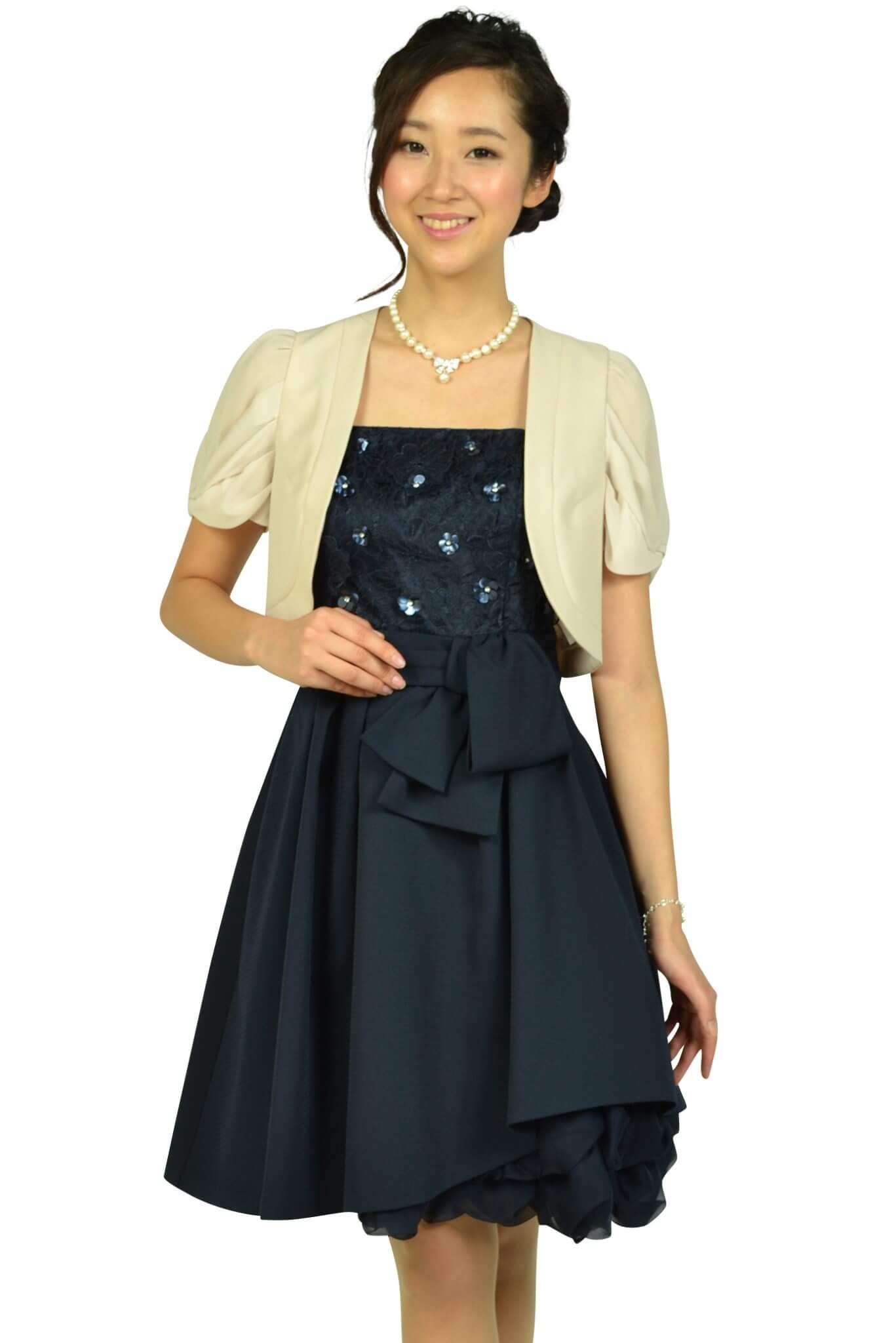 アプワイザー・リッシェ (Apuweiser-riche)フラワー刺繍ネイビードレスセット