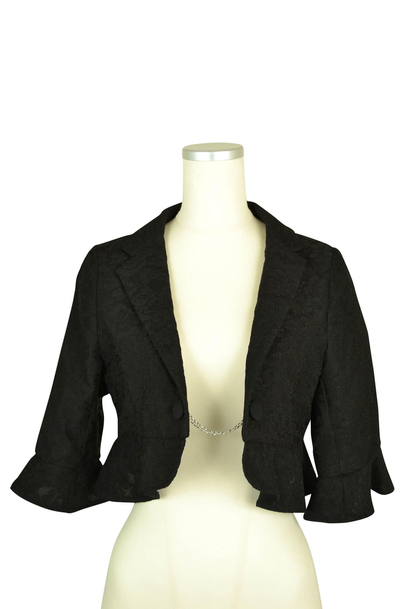 ブローネ (Burlone)ブラックレースジャケット