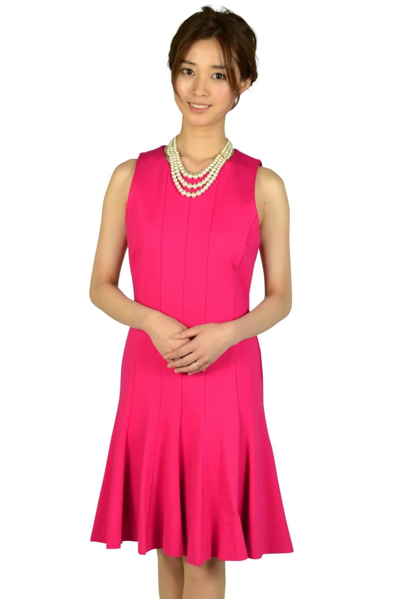 マイケルマイケルコース トランペットスカートフューシャピンクドレス