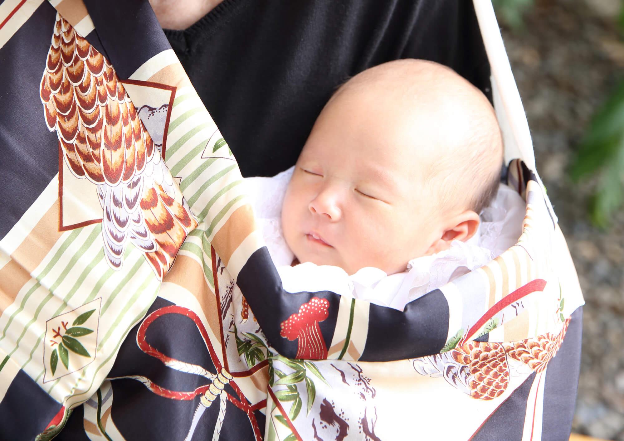 お宮参り当日の赤ちゃんの服装