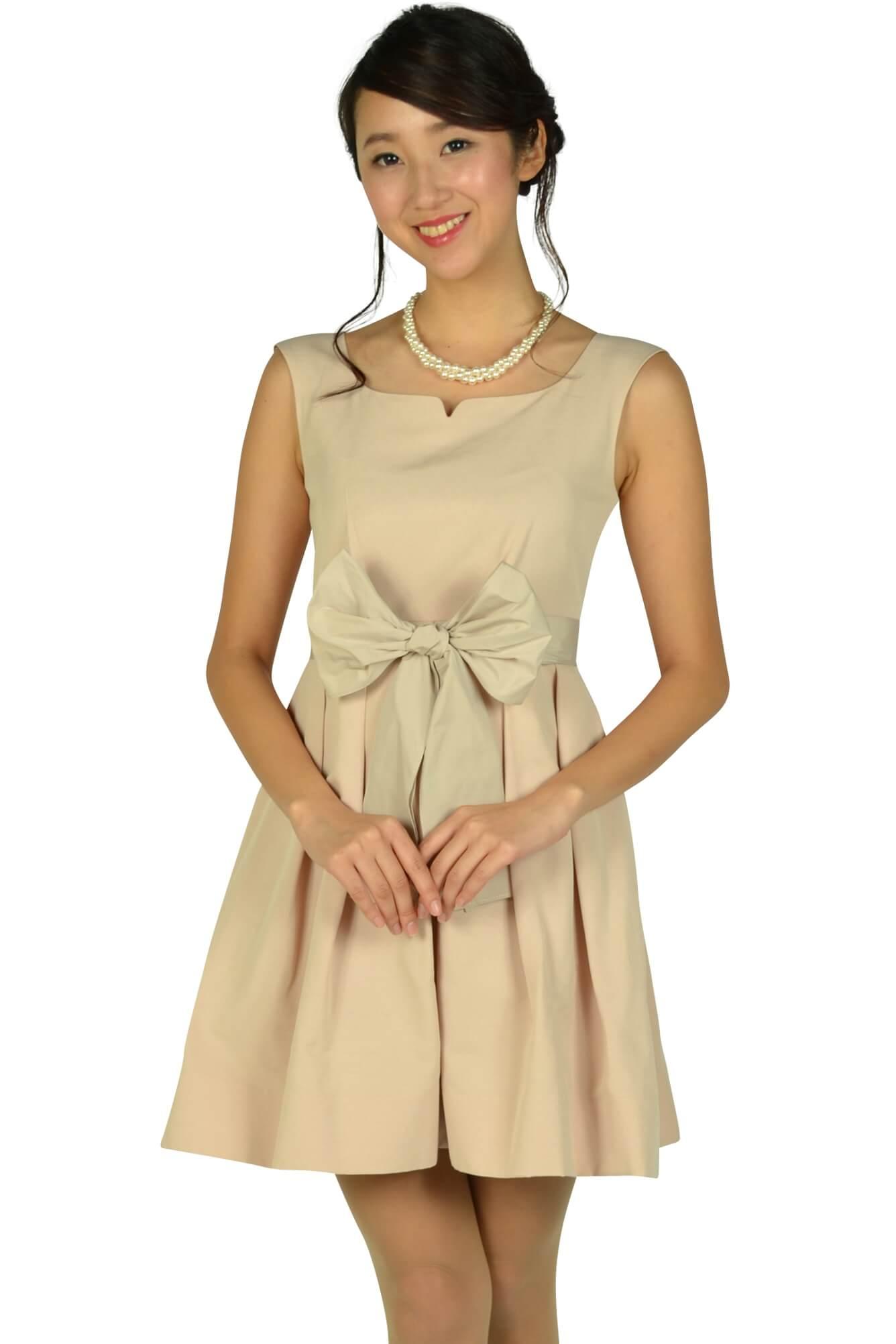 ジルスチュアート (JILLSTUART)ハートシェイプドネックピンクドレス