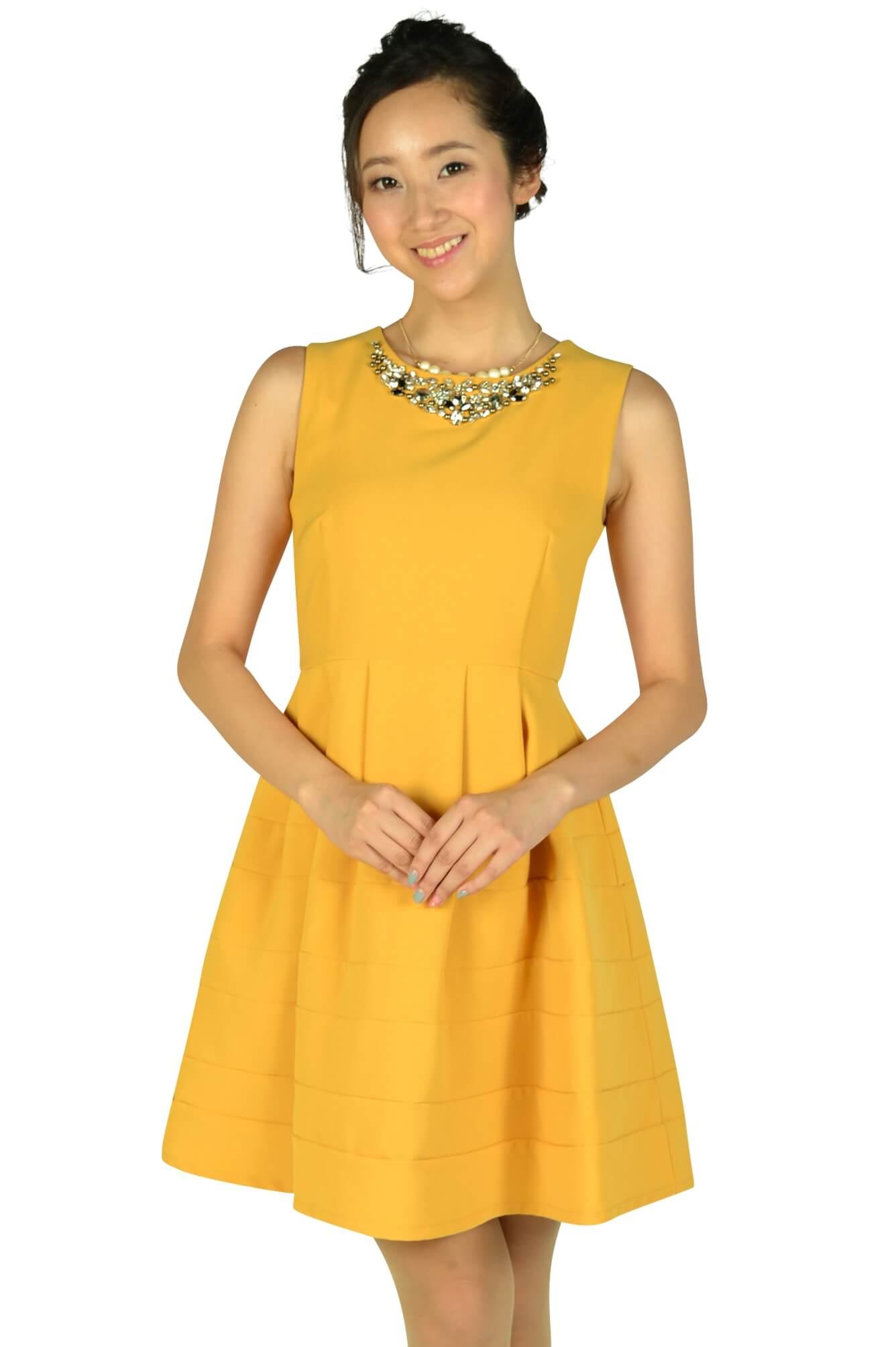 アティラントーレ (Attirantore)豪華ビジュマスタードドレス