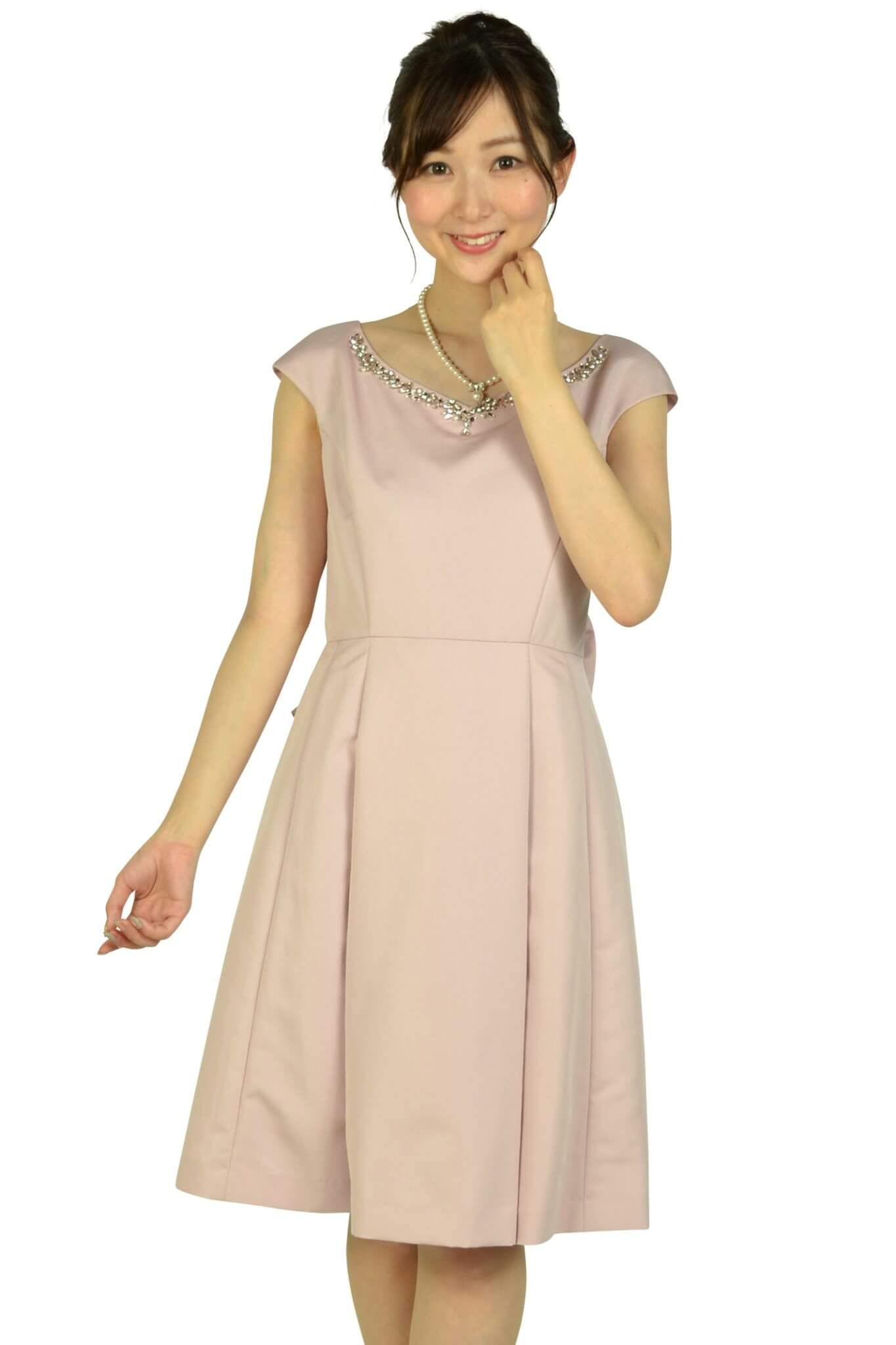 アプワイザー・リッシェ (Apuweiser-riche)華やかビジュピンクドレス