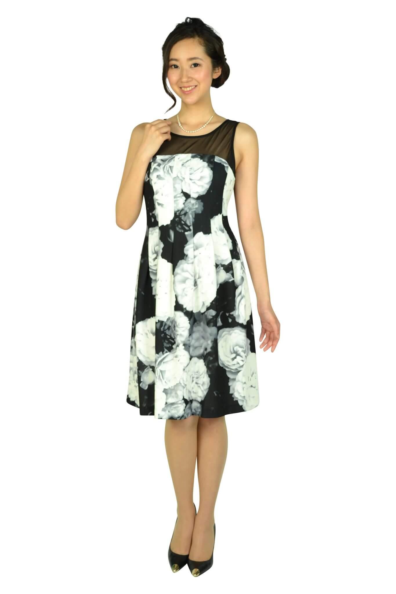 カルバンクライン (Calvin Klein)エレガントフラワーブラックドレスセット