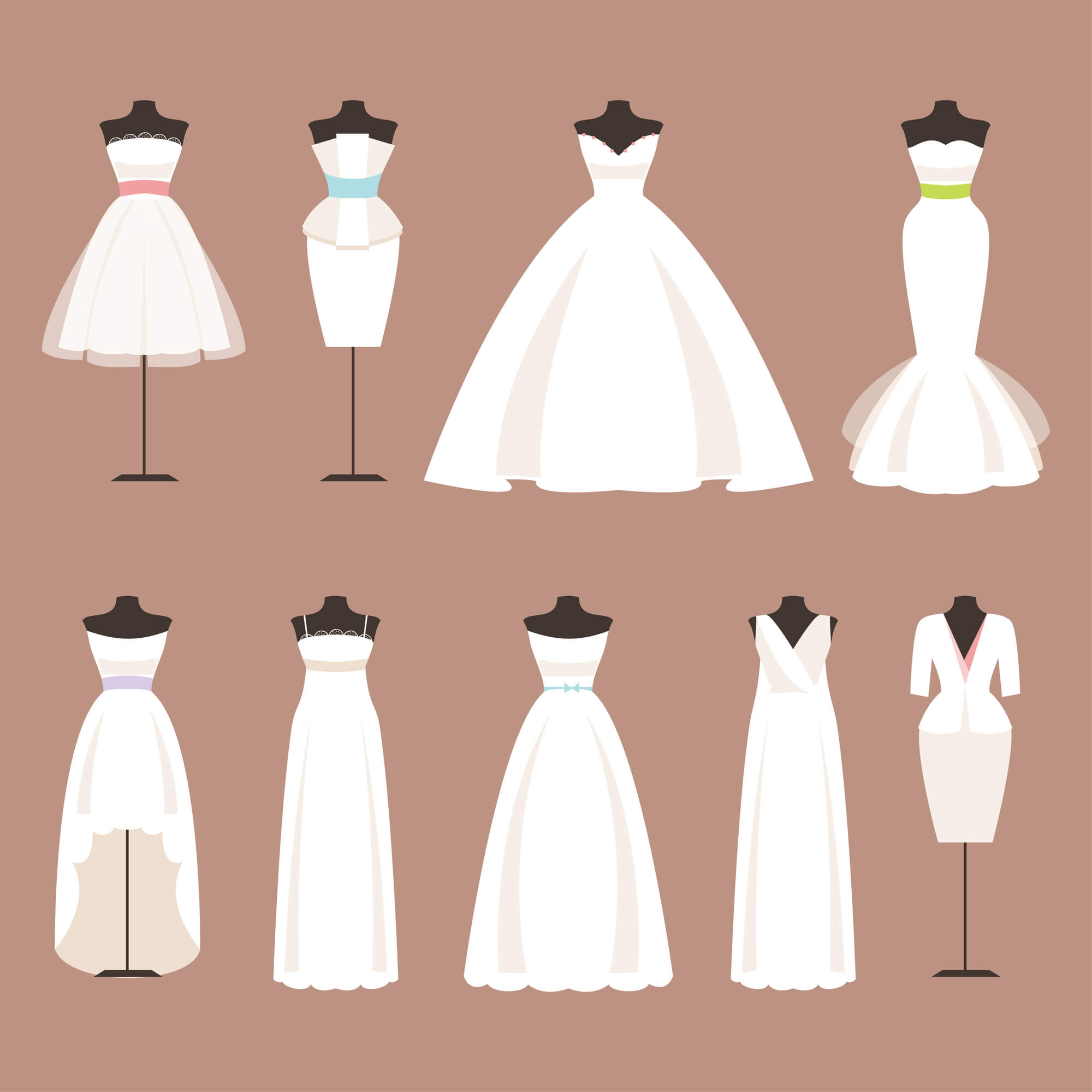 デザイン別ドレスをご紹介