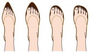 靴の形に注目!