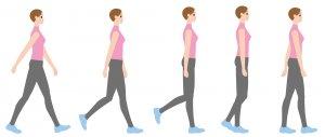 正しい歩き方を心がける