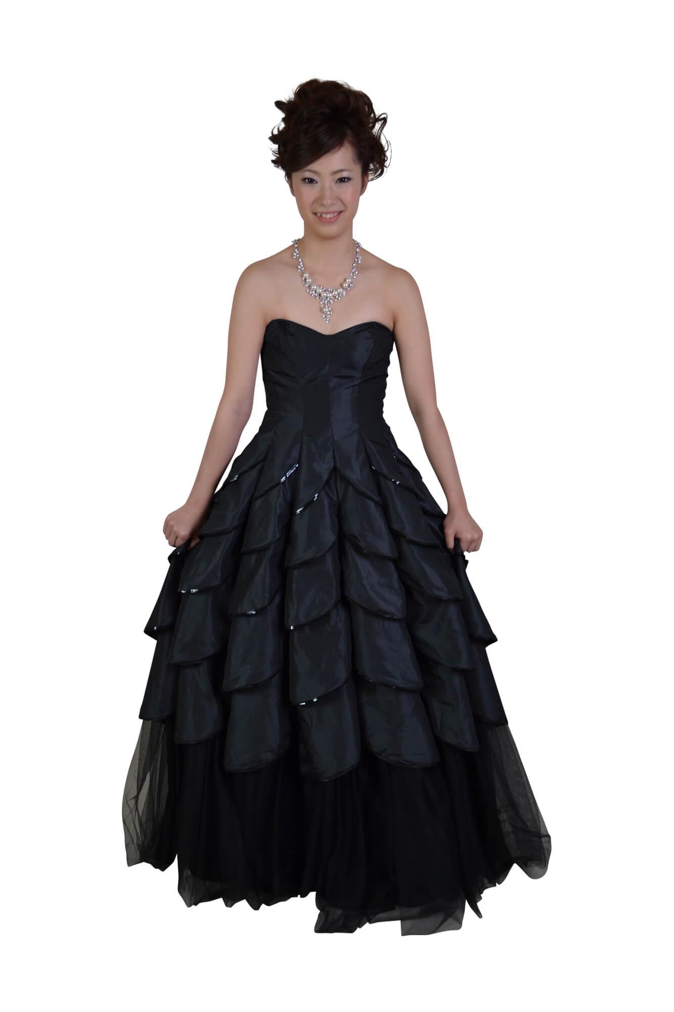 ベッツィジョンソン (BETSEY JOHNSON)ロングボリューム黒ドレス