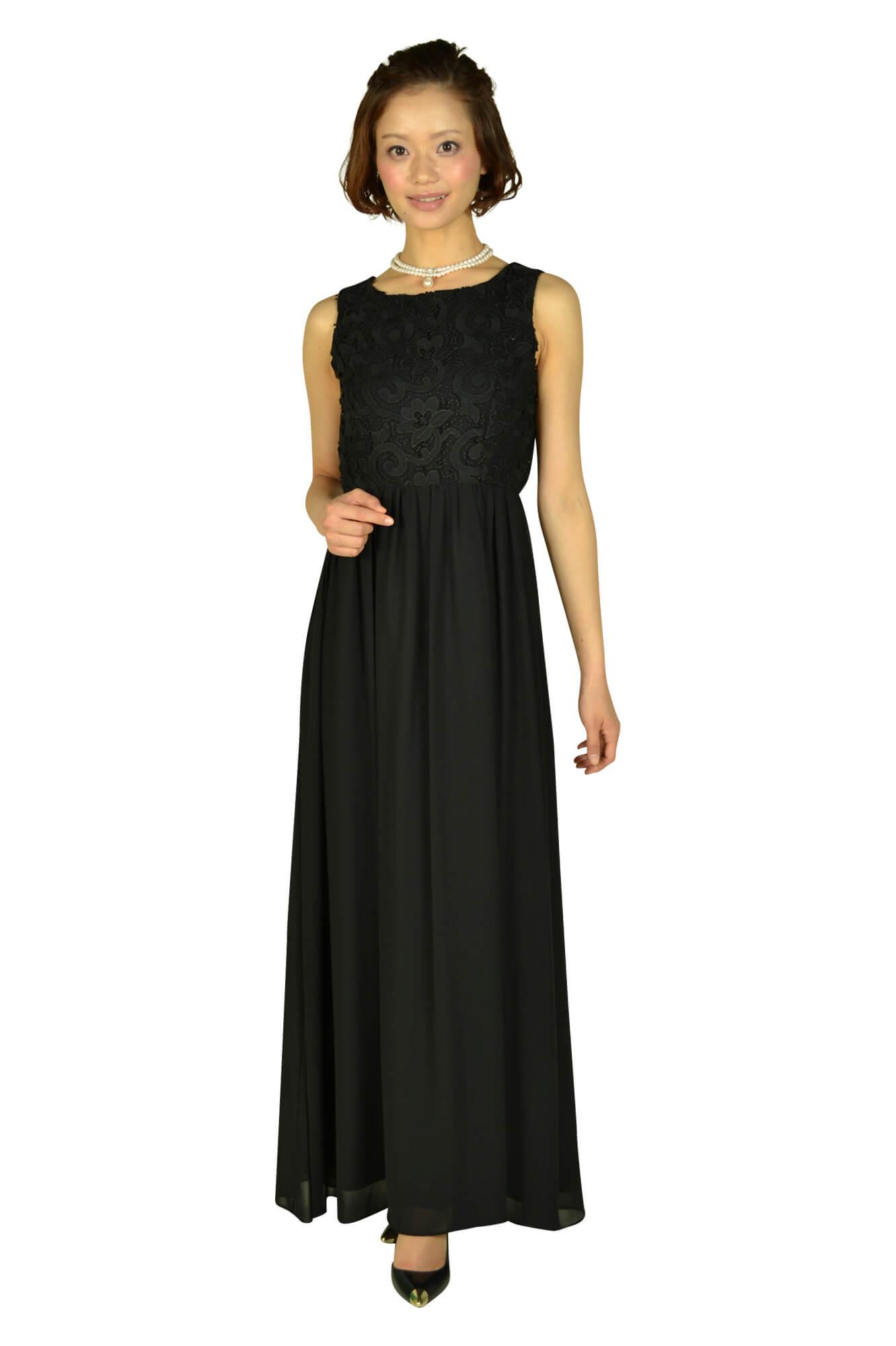 デリセノアール (DELLISE NOIR)ブラックロングドレス