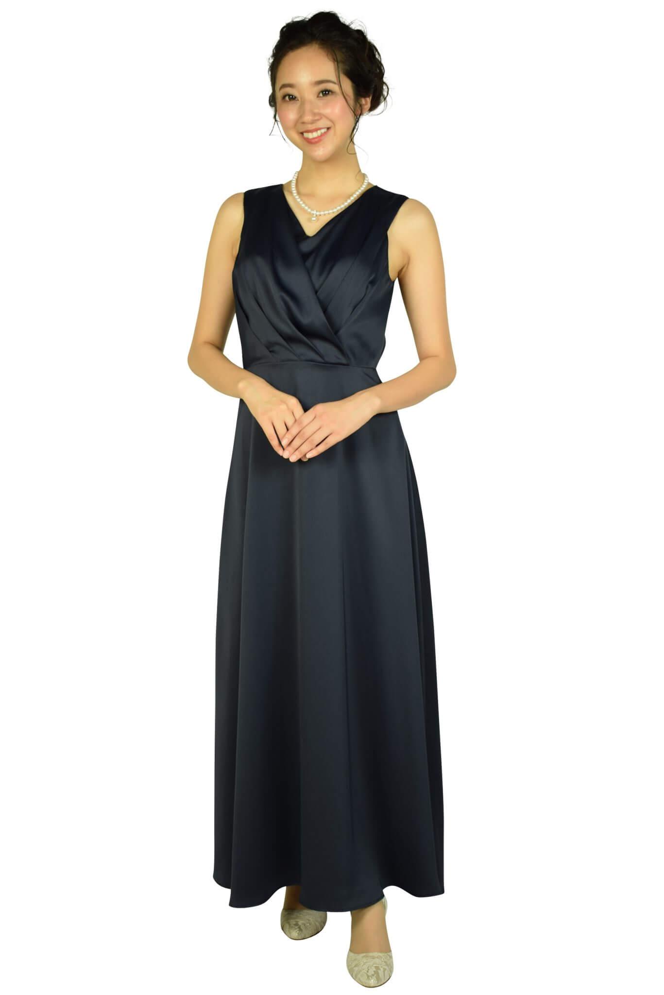 エルモソ リュクス (Hermoso luxe)カシュクールネイビーロングドレス