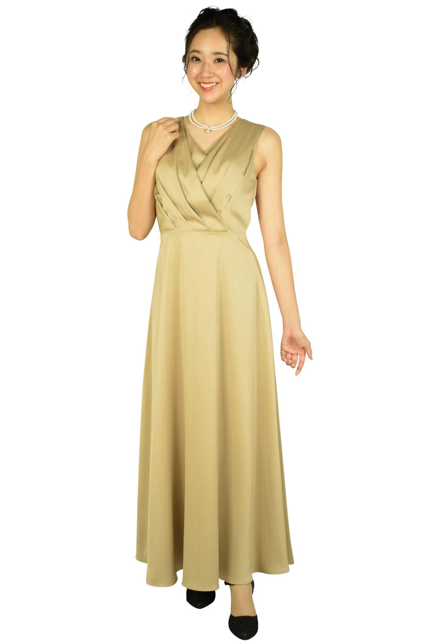 エルモソ リュクス(Hermoso luxe) カシュクールベージュロングドレス